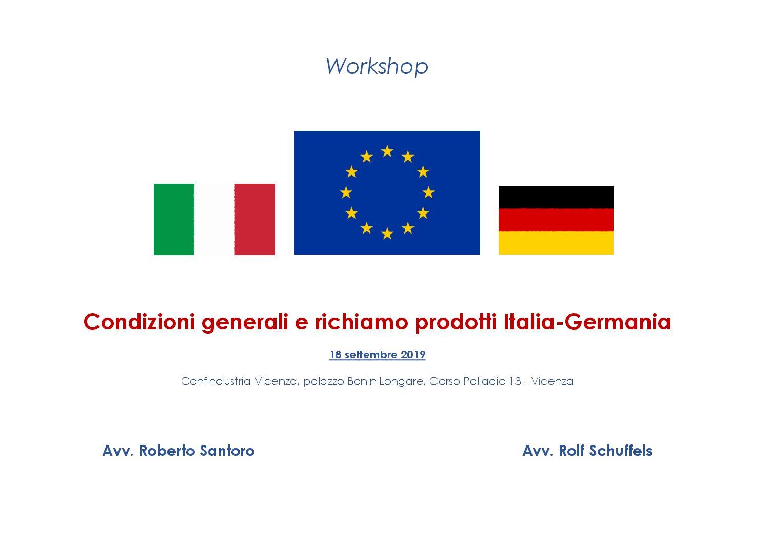 Italia e Germania: Le condizioni generali di vendita e il richiamo dei prodotti